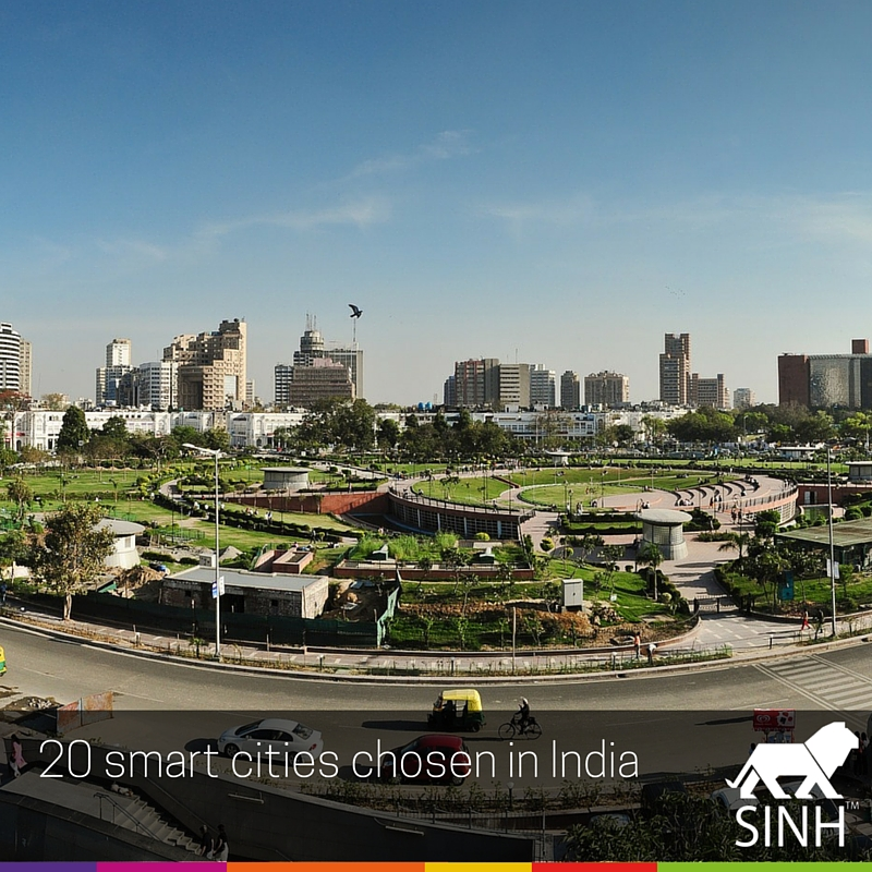 20 Smart cities chosen in India