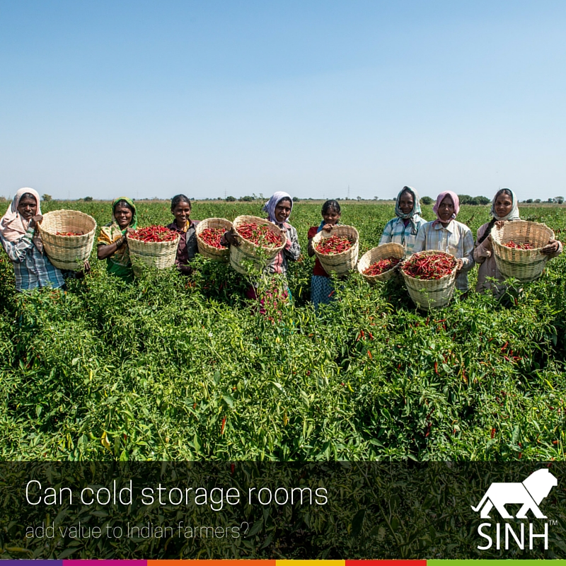 Can cold storage rooms add value to Indian farmers?