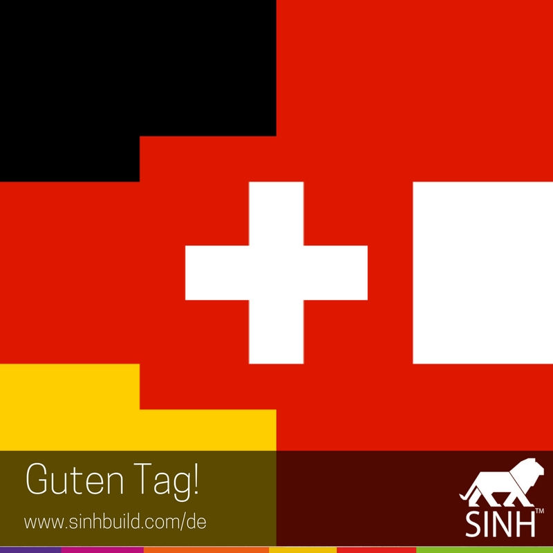 Guten Tag SINH™ Our website in German